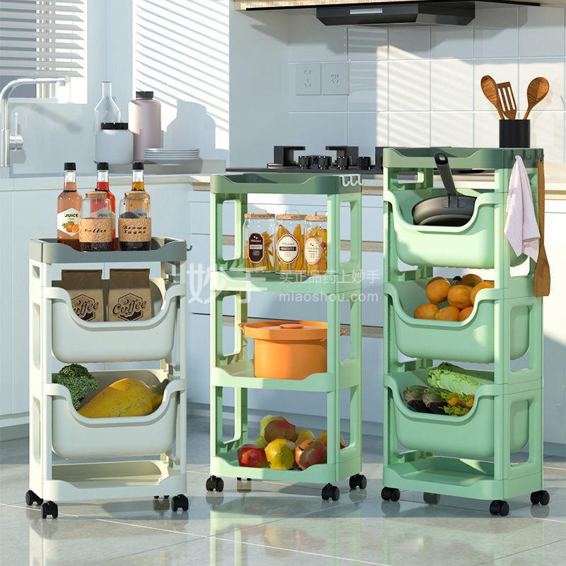 抖店厨房置物架落地多层菜架