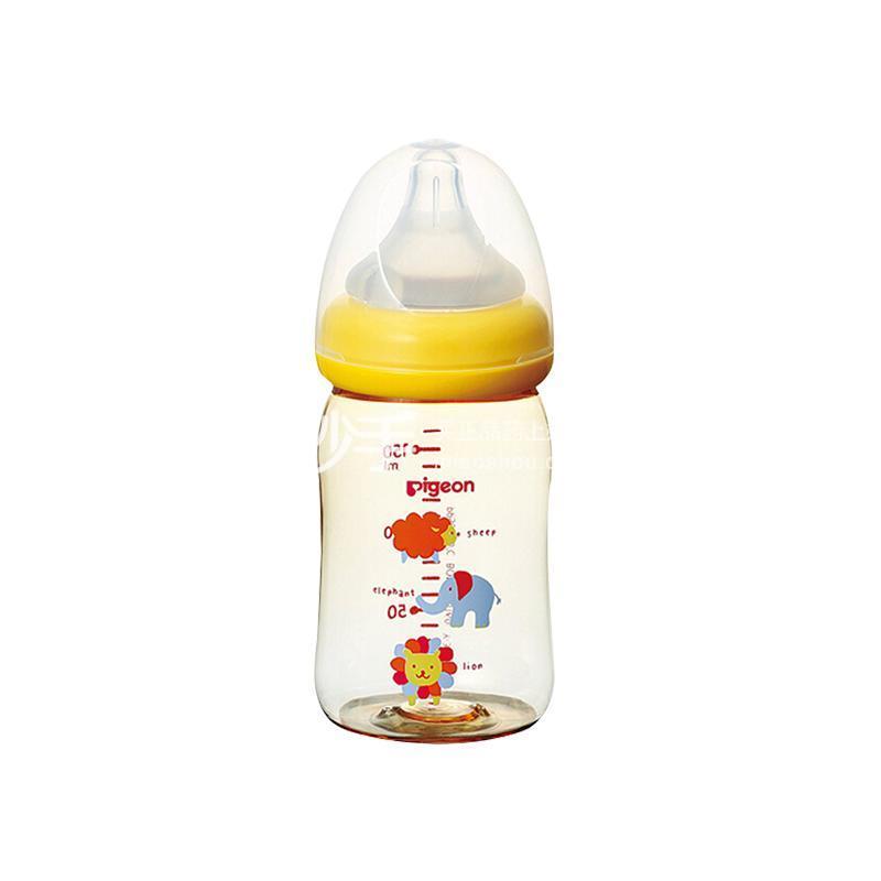 贝亲母乳实感PPSU奶瓶160毫升动物图案